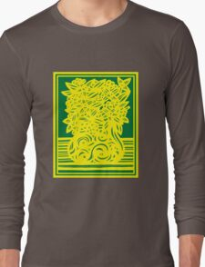 Kingham Flowers Yellow Green Long Sleeve T-Shirt