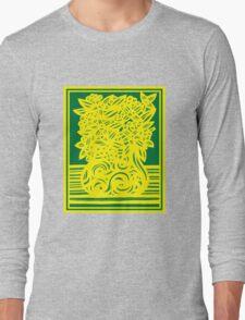 Kingham Flowers Yellow Green Long Sleeve T-Shirt