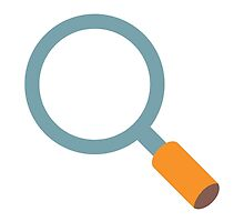 Left-Pointing Magnifying Glass Google Hangouts / Android Emoji by emoji