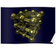 Cubenoid griddle Poster
