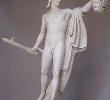 The Statue of Perseus, The Vatican Museums Courtyard by NeedMoreArt