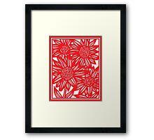 Villarrvel Flowers Red White Framed Print