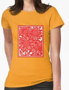 Villarrvel Flowers Red White T-Shirt