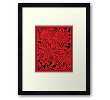 Zarco Flowers Red Black Framed Print
