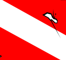 Divers Down Flag Sticker