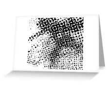 Black and White Abstract Phototcopy Greeting Card
