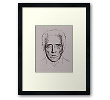 Christopher Walken tshirt and prints Framed Print