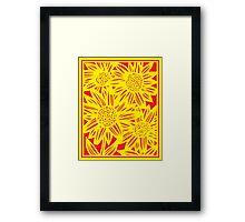 Dragaj Flowers Yellow Red Framed Print