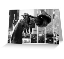 Knotted Revolver Greeting Card