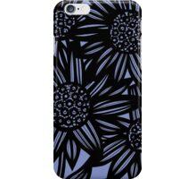 Fatone Flowers Blue Black iPhone Case/Skin