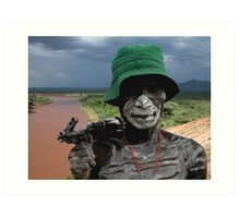 ONE FACE OF AFRICA Art Print