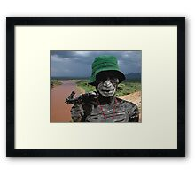 ONE FACE OF AFRICA Framed Print