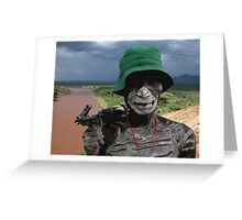 ONE FACE OF AFRICA Greeting Card