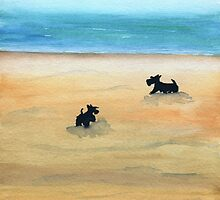 Scottie Dogs 'Day At The Beach' by archyscottie