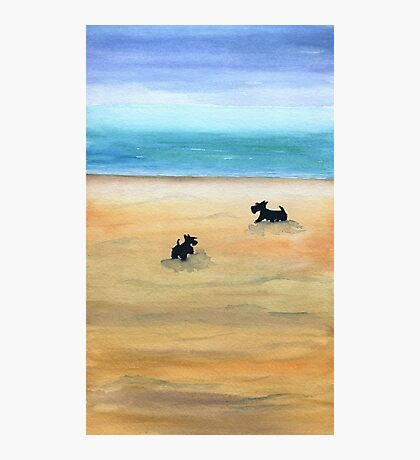 Scottie Dogs 'Day At The Beach' Photographic Print