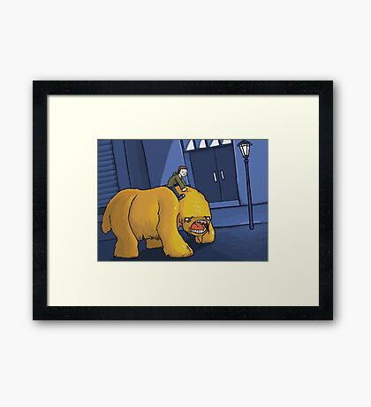 A Boy and His Monster Framed Print
