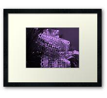 Purple Bow Framed Print