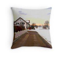 Village Street Throw Pillow