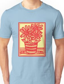 Marchiori Flowers Yellow Red Unisex T-Shirt