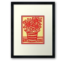 Marchiori Flowers Yellow Red Framed Print