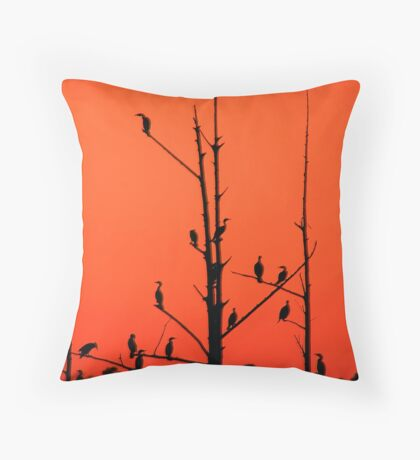 Roosting Commerants Throw Pillow