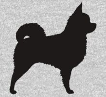 Long Haired Chihuahua Silhouette by Jenn Inashvili