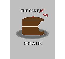 The cake is/was not a lie Photographic Print