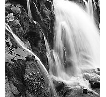 Erosion in Action: Loup of Fintry Waterfall Photographic Print