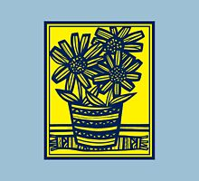 Fogo Flowers Yellow Blue Womens Fitted T-Shirt
