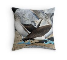The Dance of the Boobies Throw Pillow