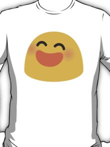 Smiling Face With Open Mouth And Smiling Eyes Google Hangouts / Android Emoji T-Shirt