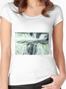 Iguazu Falls - Over the Edge 2 Women's Fitted Scoop T-Shirt