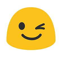 Winking Face Google Hangouts / Android Emoji by emoji