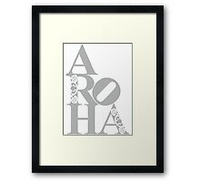 Aroha (love) to the people Framed Print