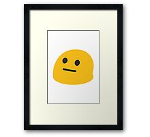 Neutral Face Google Hangouts / Android Emoji Framed Print