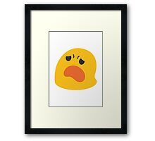 Frowning Face With Open Mouth Google Hangouts / Android Emoji Framed Print