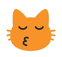 Kissing Cat Face With Closed Eyes Google Hangouts / Android Emoji by emoji
