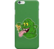 Slimer eating pizza iPhone Case/Skin