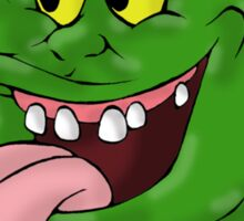 Slimer eating pizza Sticker