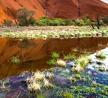 Reflections of Uluru by Steven Pearce
