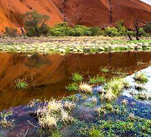 Reflections of Uluru by Steven Pearce