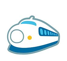 High-Speed Train With Bullet Nose Google Hangouts / Android Emoji by emoji