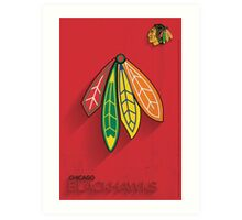 Chicago Blackhawks Minimalist Print Art Print