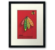 Chicago Blackhawks Minimalist Print Framed Print
