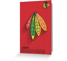 Chicago Blackhawks Minimalist Print Greeting Card
