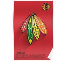 Chicago Blackhawks Minimalist Print Poster