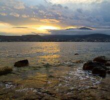 Sunset over Mt Wellington by ellenm1985