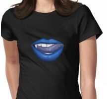 VAMPIRE LIPS - BLUE (2) Womens Fitted T-Shirt