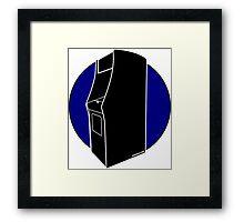 Retrogamer - Arcade Cabinet Silhouette - BLUE Framed Print