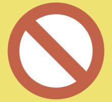 No Entry Sign Google Hangouts / Android Emoji Kids Clothes
